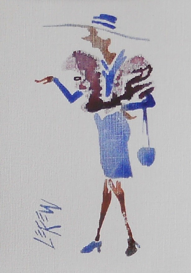 """Serendipity Blot Figure Sketch #13-10-08"" original fine art by Larry Lerew"