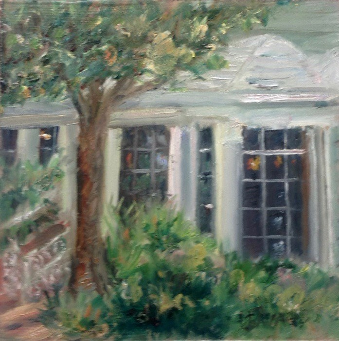 """The Veranda"" original fine art by Judy Usavage"