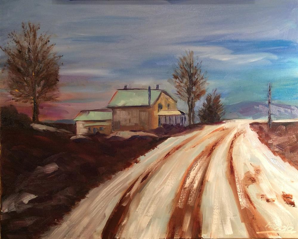 """The Journey"" original fine art by Hoda Nicholas"