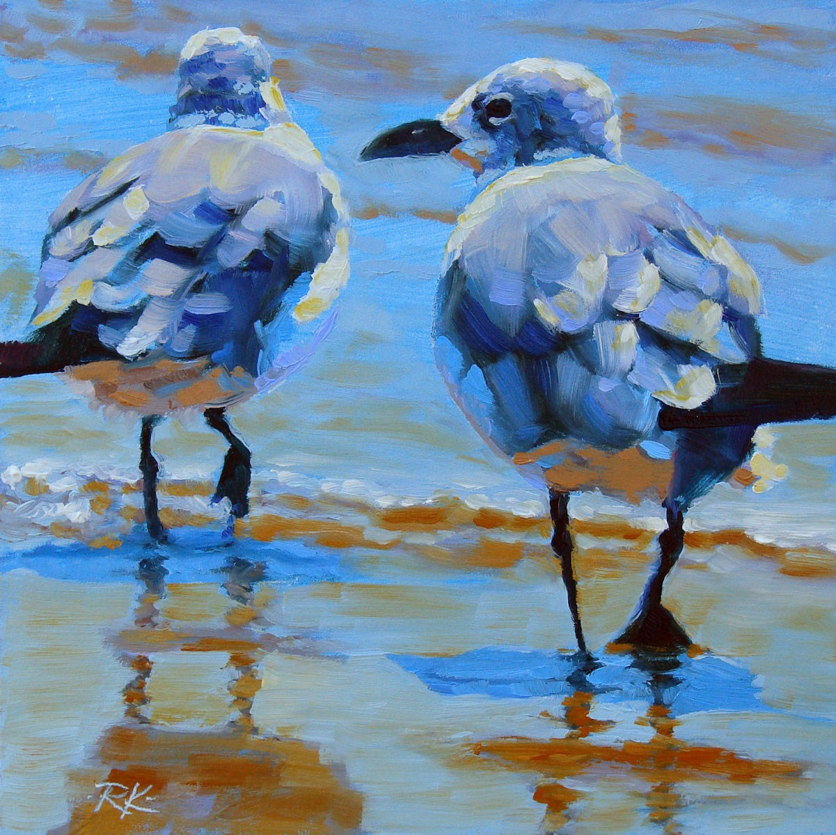 """Goin' Wading"" original fine art by Rita Kirkman"