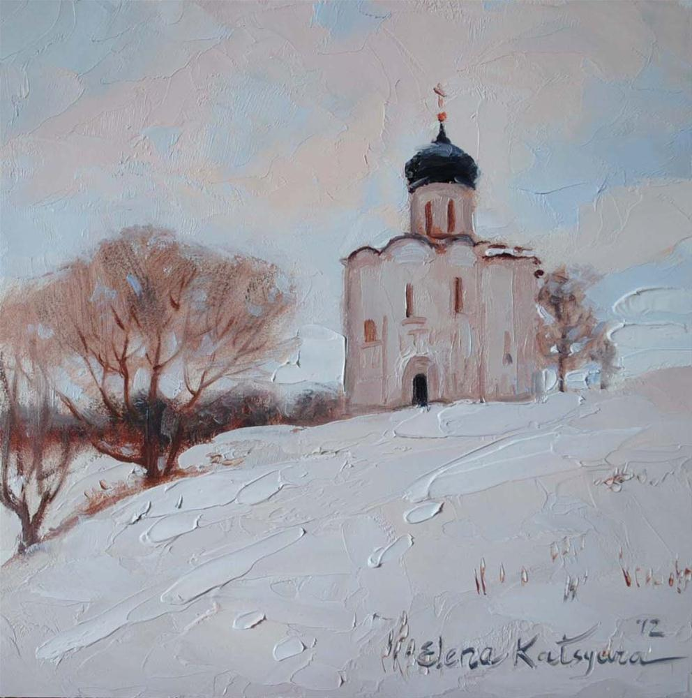 """Russian Winter"" original fine art by Elena Katsyura"