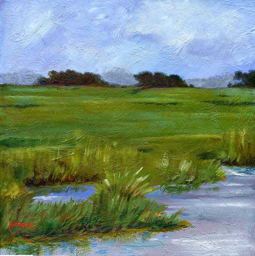"""The MARSH'S OF SOUTH PORT, NC - An original painting"" original fine art by Sue Furrow"