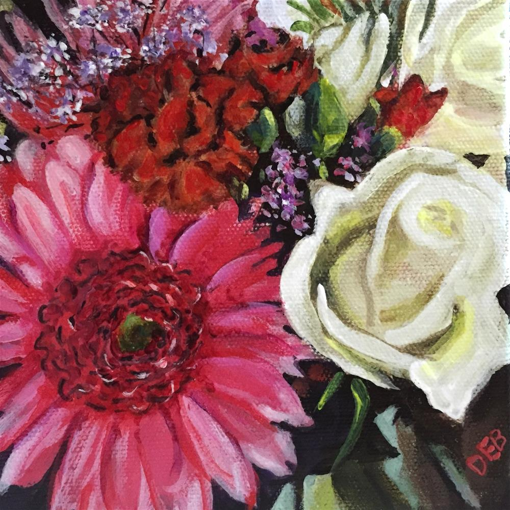 """Flowers from Alex"" original fine art by Debbie Yacenda"