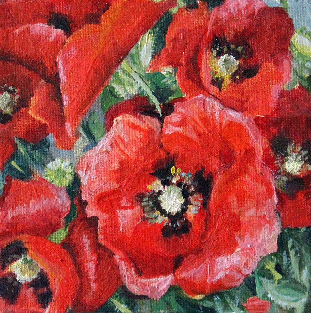 """Poppies"" original fine art by Neringa Maxwell"