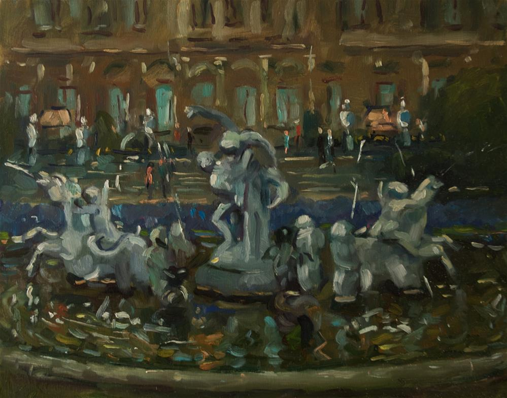 """Fountain at Waddesdon Manor"" original fine art by Andre Pallat"