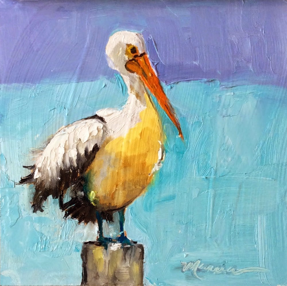"""Sittin' on the Dock of the Bay"" original fine art by Marcia Hodges"