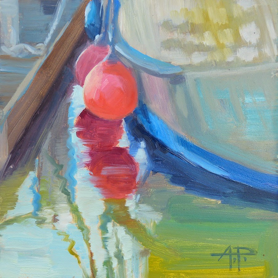 """A boat ditty"" original fine art by Anette Power"