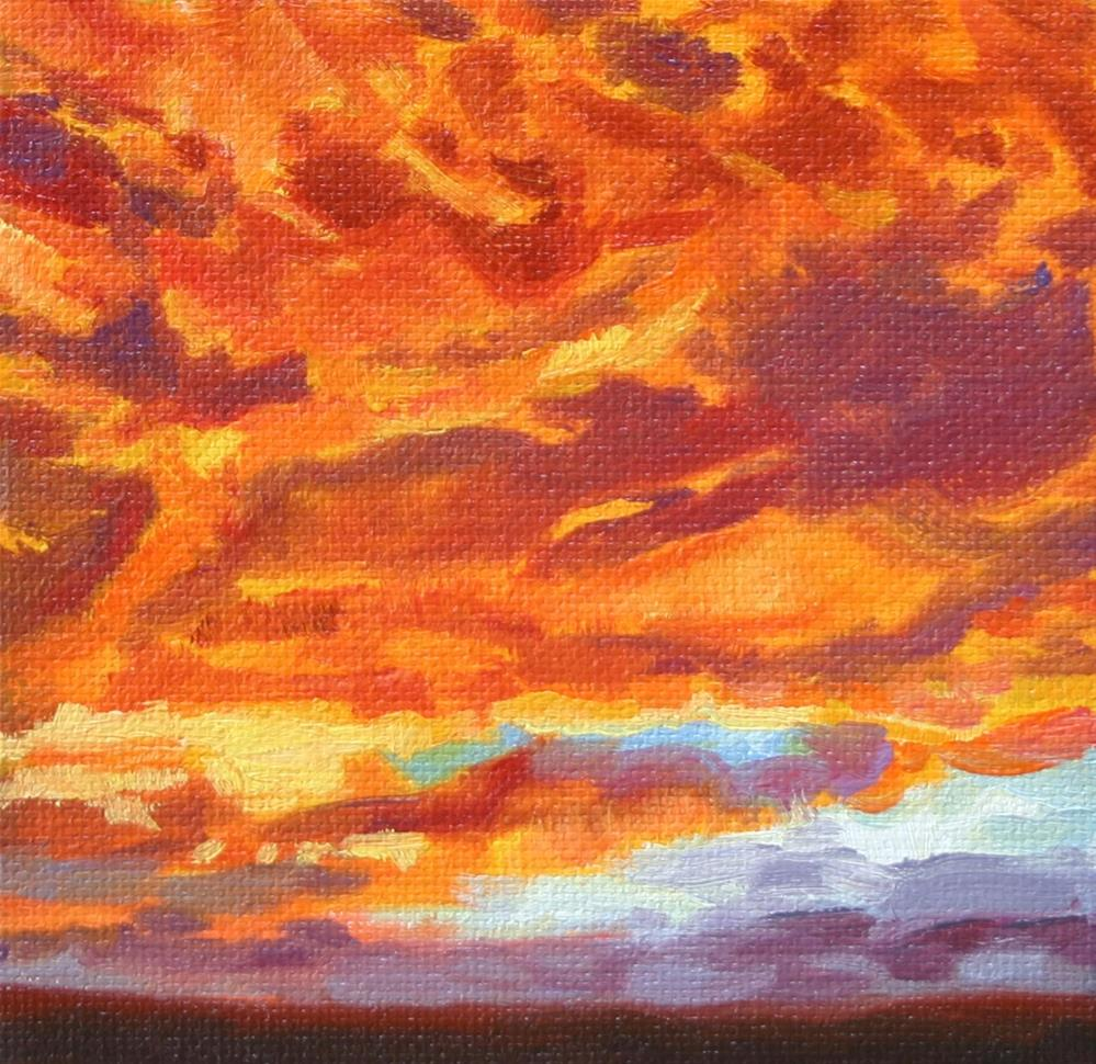 """Fiery Skies"" original fine art by K.R. McCain"