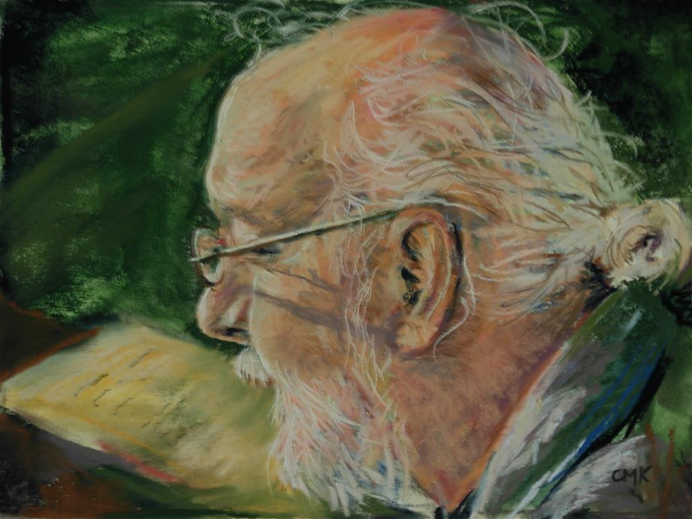 """The Scholar"" original fine art by Catherine Kauffman"