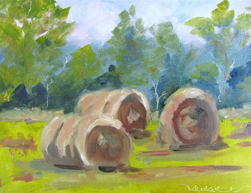 """Hay Y'all"" original fine art by Susan Elizabeth Jones"