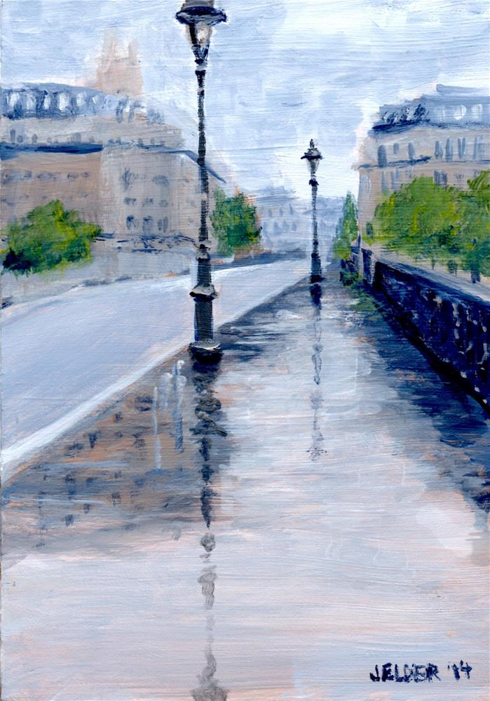 """Paris No. 33, Rainy"" original fine art by Judith Elder"
