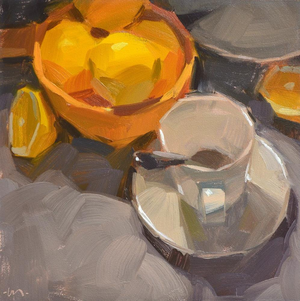 """Who Drank My Tea!?"" original fine art by Carol Marine"