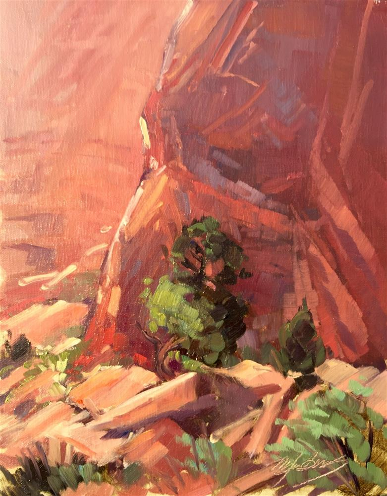 """Red Rocks Aglow"" original fine art by Mary Jabens"