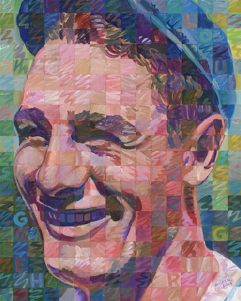 """""""Lou Gehrig"""" original fine art by Randal Huiskens"""