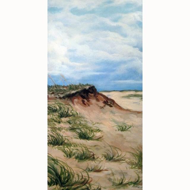 """Southern Beach seascape scene 10 x 20"" original fine art by Linda Apple"