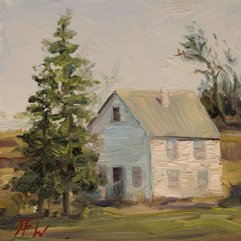 """Solitary little house"" original fine art by H.F. Wallen"