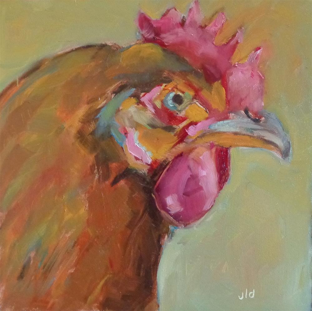 """MY GOOD SIDE"" original fine art by Jean Delaney"