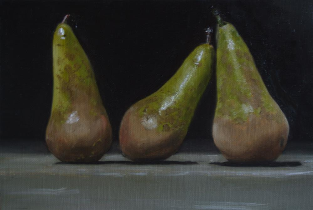 """Conference Pears"" original fine art by James Coates"