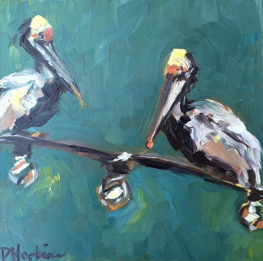 """Well, Hello There"" original fine art by Denise Hopkins"