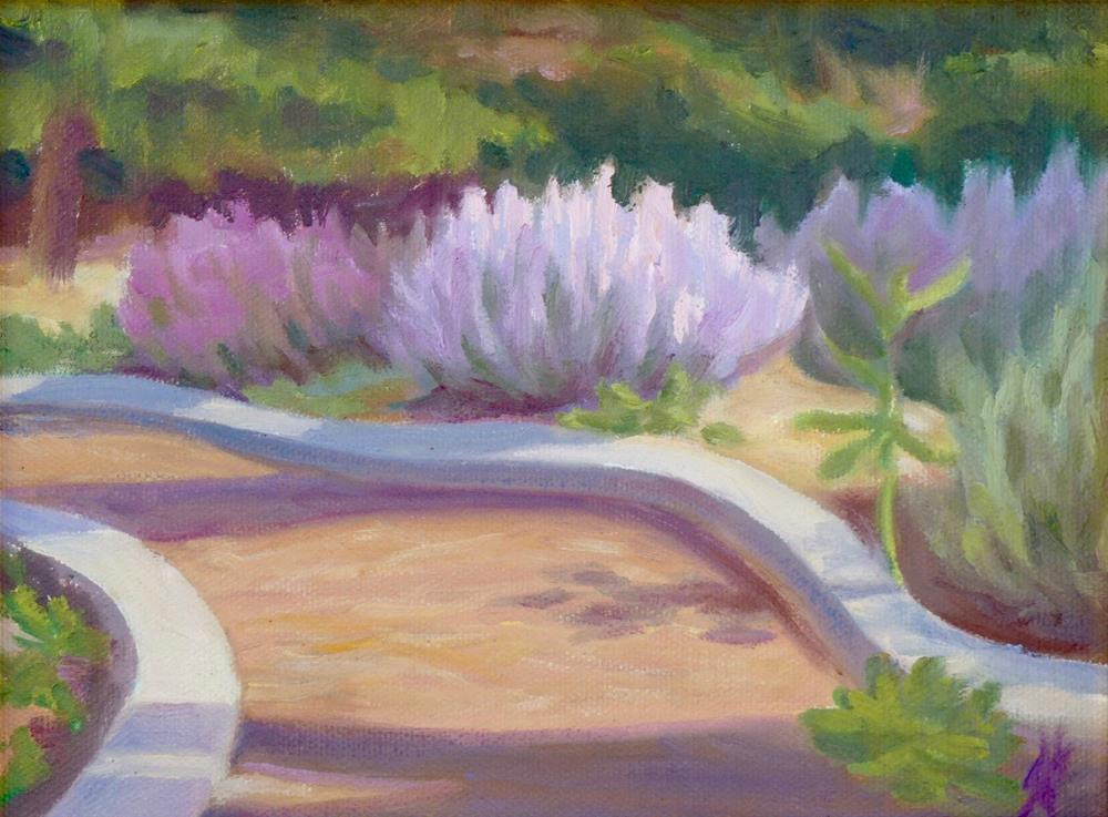 """Garden Path"" original fine art by Mark Allison"