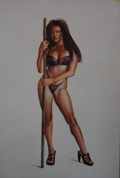 """Mason Marconni"" original fine art by Kirk Miller"