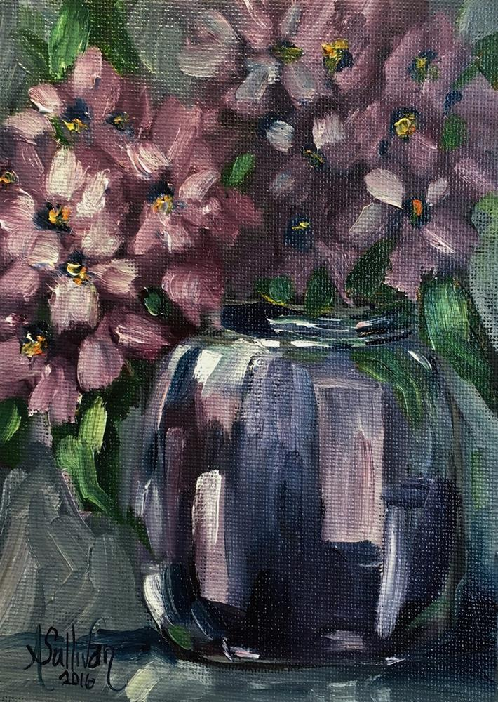 """Shades of Purple and Blue still life painting by Alabama Artist Angela Sullivan"" original fine art by Angela Sullivan"
