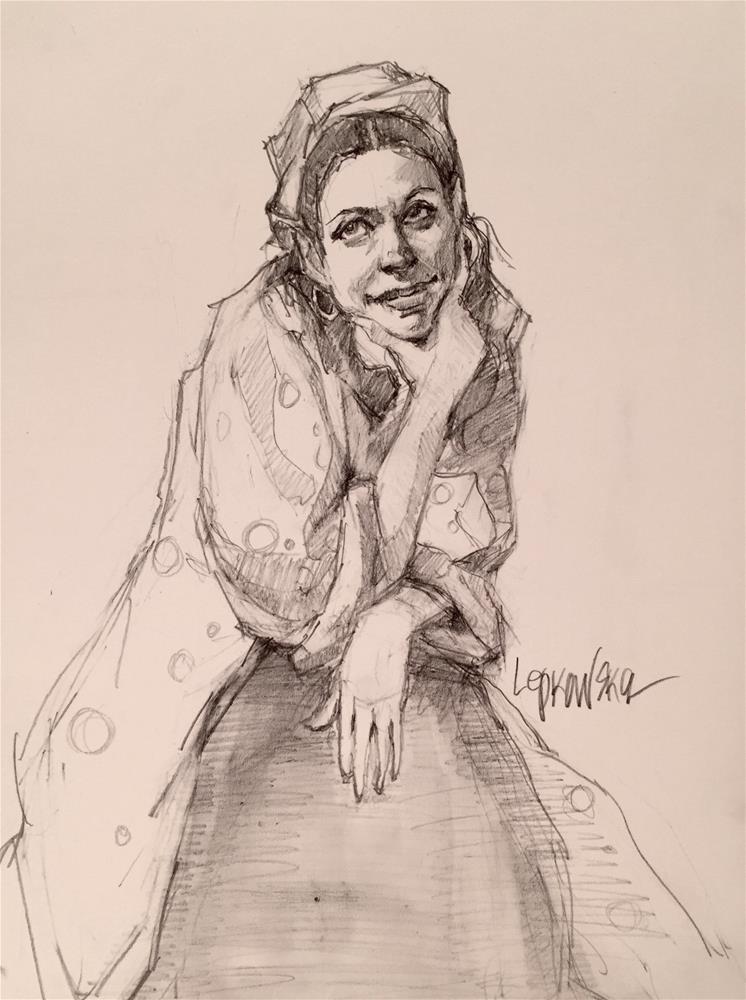 """""""Taking a Break"""" original fine art by Laurie Johnson Lepkowska"""