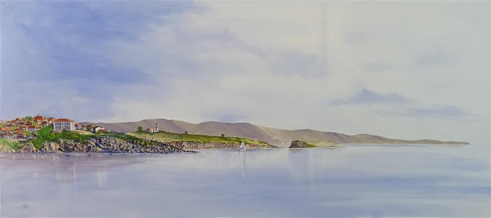 """Calm Morning for a sail"" original fine art by Martin Stephenson"