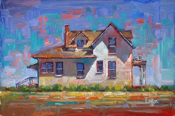 """Enos Farm House-The Side"" original fine art by Raymond Logan"
