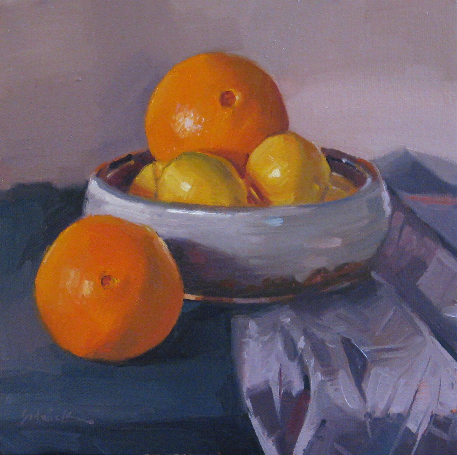 """Navel Oranges and Lemons"" original fine art by Sarah Sedwick"