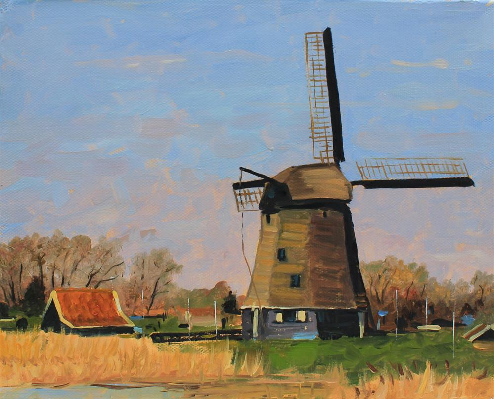 """Windmill "" original fine art by Marco Vazquez"