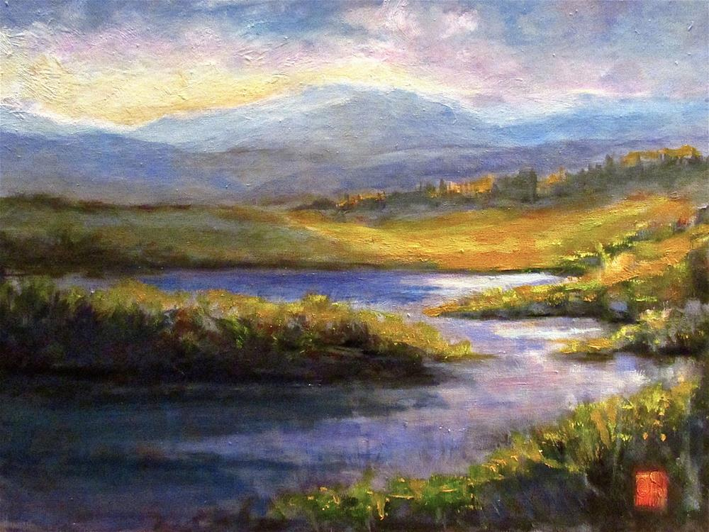 """Morning Marsh"" original fine art by Aurelio Saiz"
