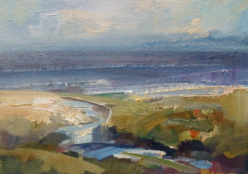 """Tide's Out"" original fine art by Anne Wood"