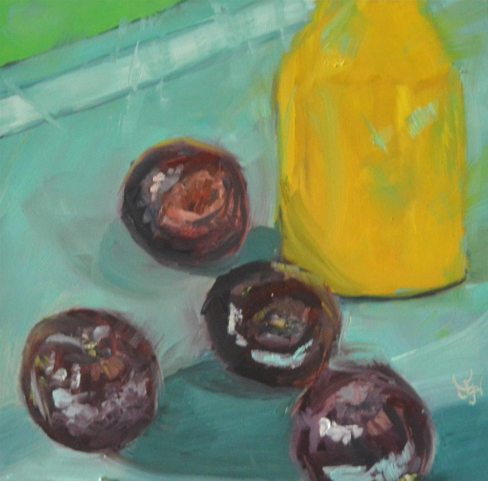 """Sum Plums"" original fine art by Jan Jackson"