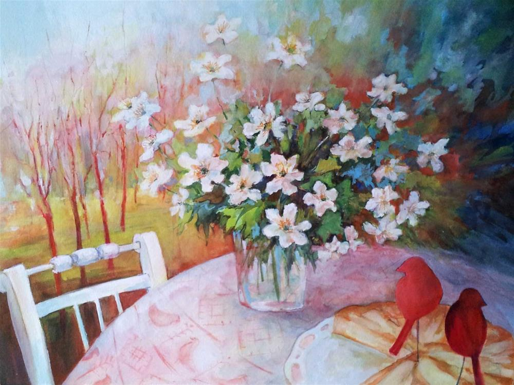 """Spring in my heart"" original fine art by Olga Touboltseva-Lefort"