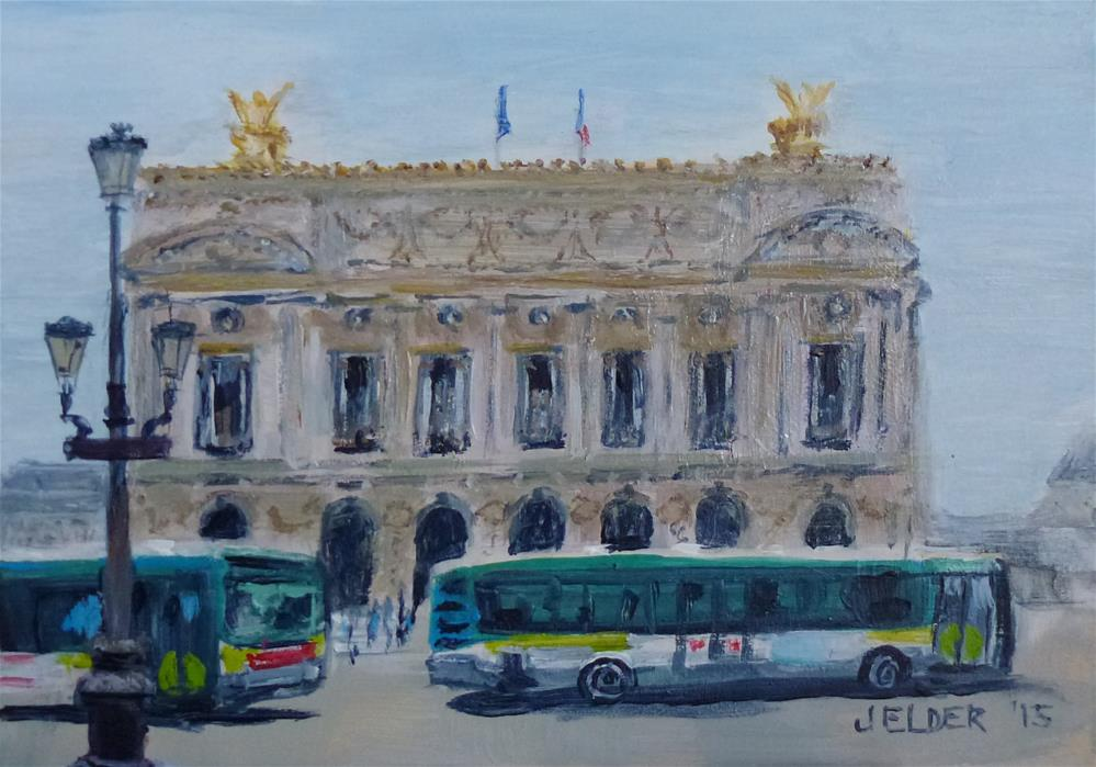 """Paris Opera Garnier, Paris No. 96"" original fine art by Judith Elder"