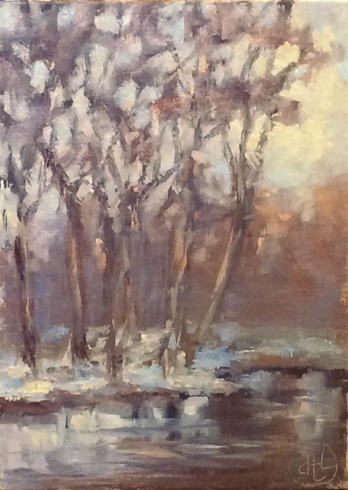 """""""winter glow"""" original fine art by Dottie  T  Leatherwood"""