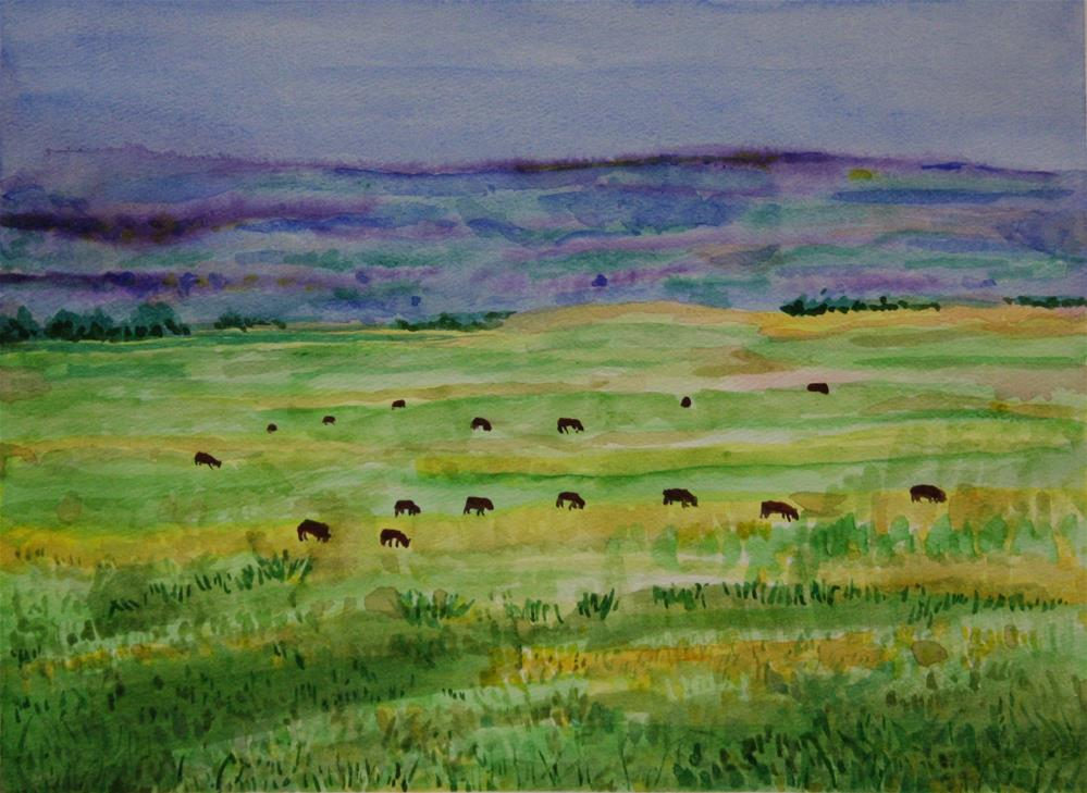 """Alberta Ranch #1"" original fine art by Terri-Anne Barge"