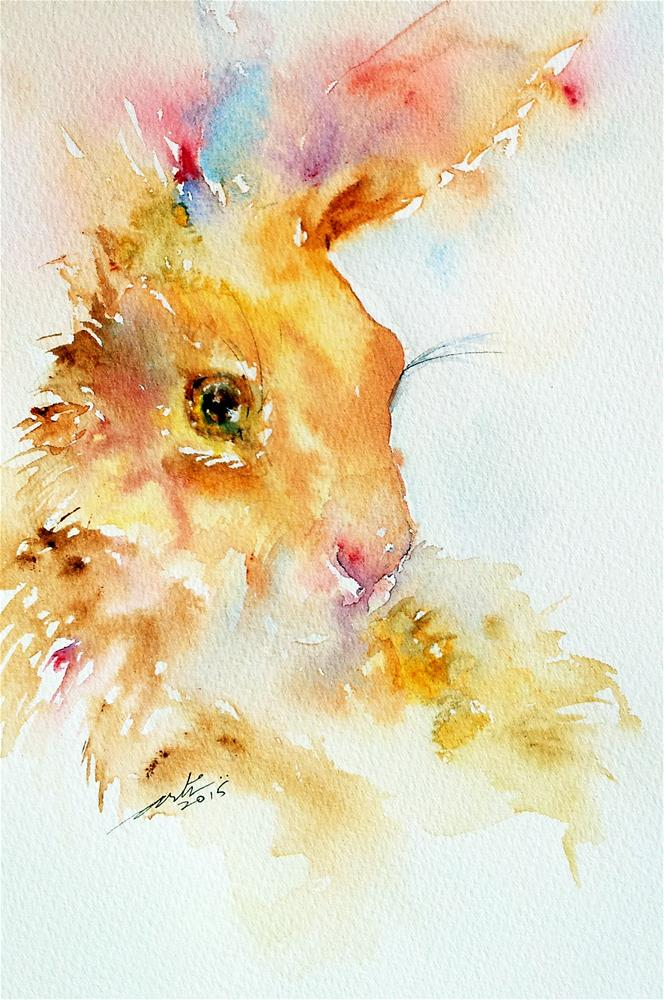 """brown Sugar Hare"" original fine art by Arti Chauhan"