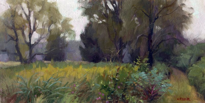 """Meadow with goldenrod"" original fine art by Kathy Weber"