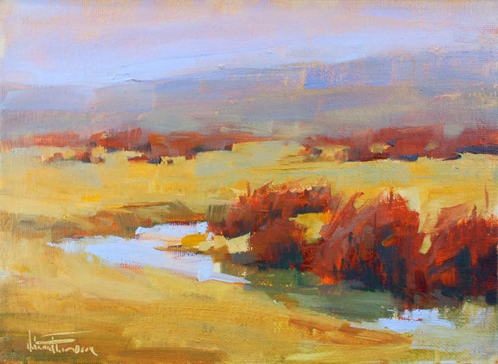 """Creekside Willows"" original fine art by Melanie Thompson"
