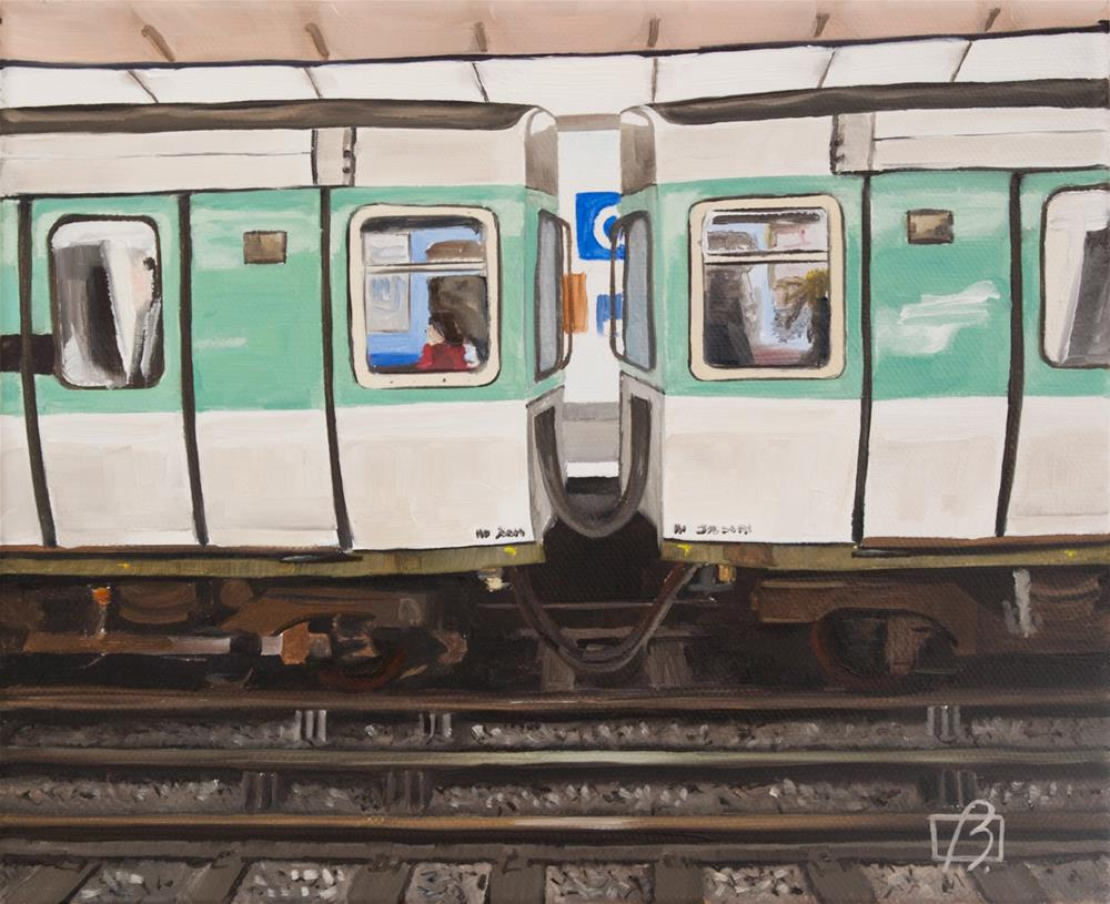 """Opera Metro (Paris)"" original fine art by Andre Beaulieu"
