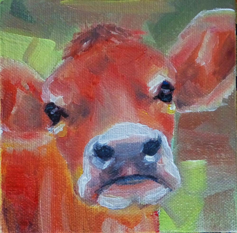 """Cow"" original fine art by Maria Z."