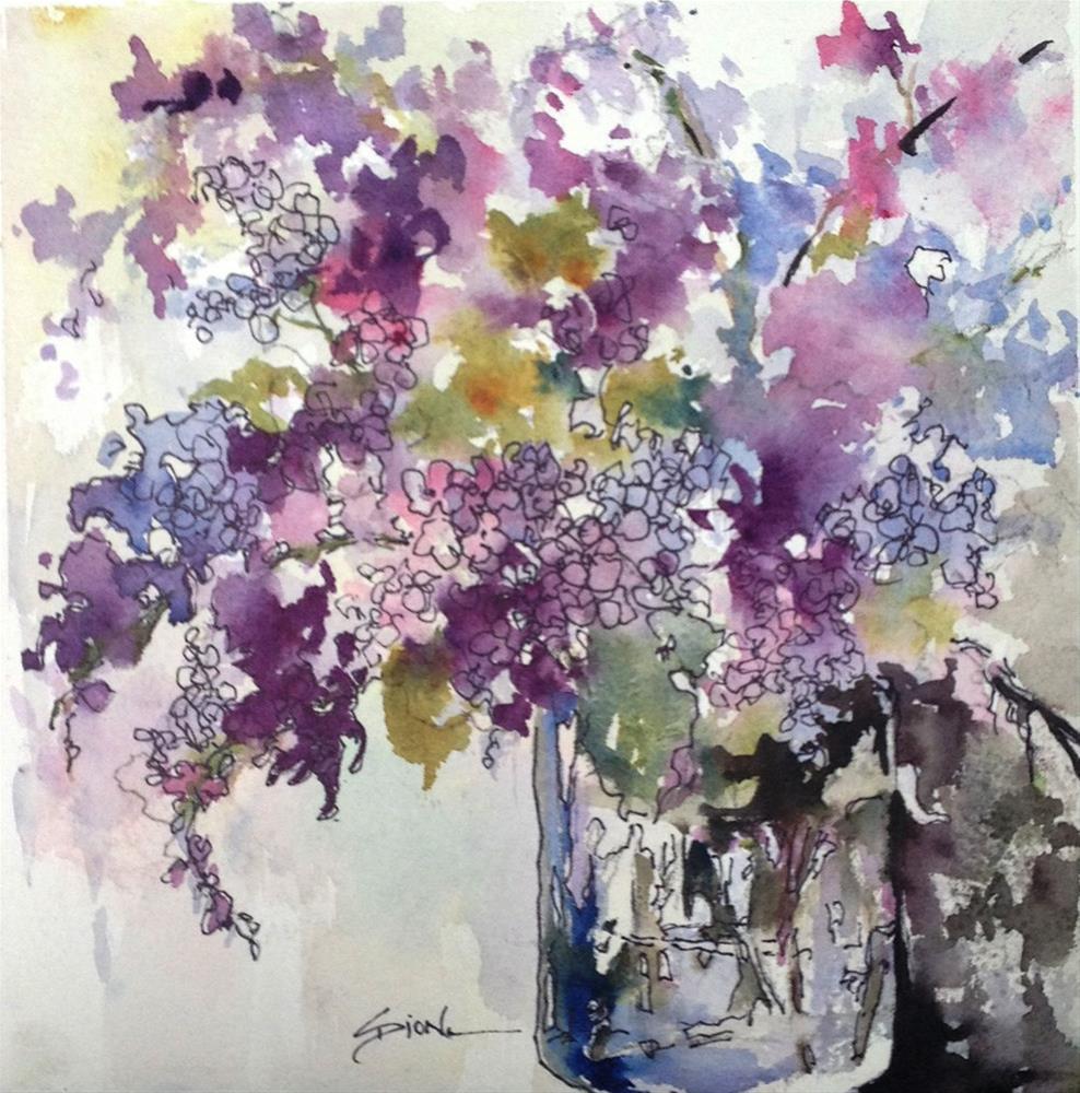 """Lilac Burst"" original fine art by Sue Dion"