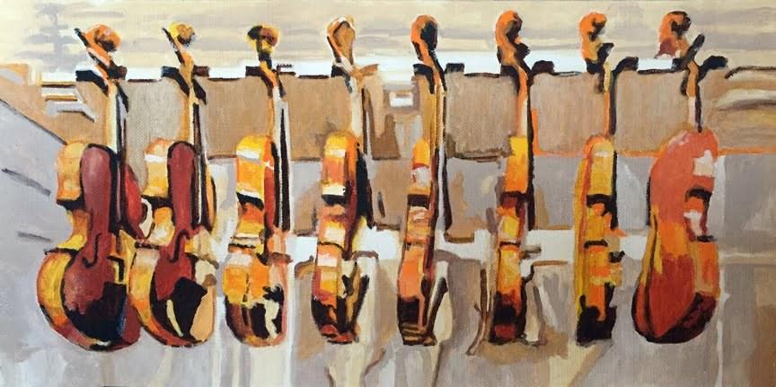 """""""Strings"""" original fine art by Nan Johnson"""
