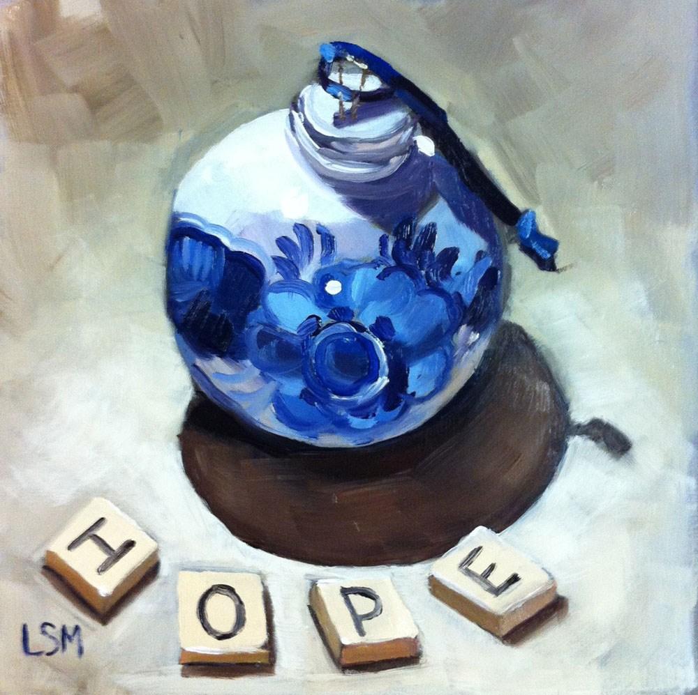 """Hope Ornament"" original fine art by Linda Marino"