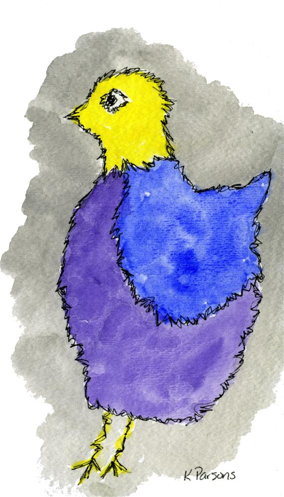 """Chick a Dee"" original fine art by Kali Parsons"