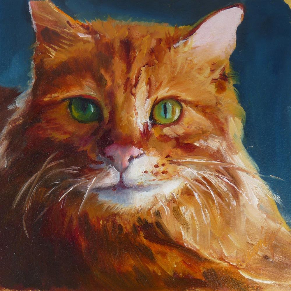 """""""Are You SURE I Can't Go Outside?"""" original fine art by Sharman Owings"""