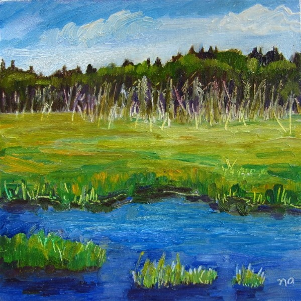 """Waterlogged"" original fine art by Nicki Ault"