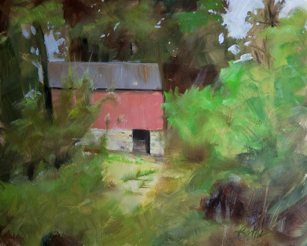 """""""Barn at Brandywine by Beth Bathe"""" original fine art by Beth Bathe"""